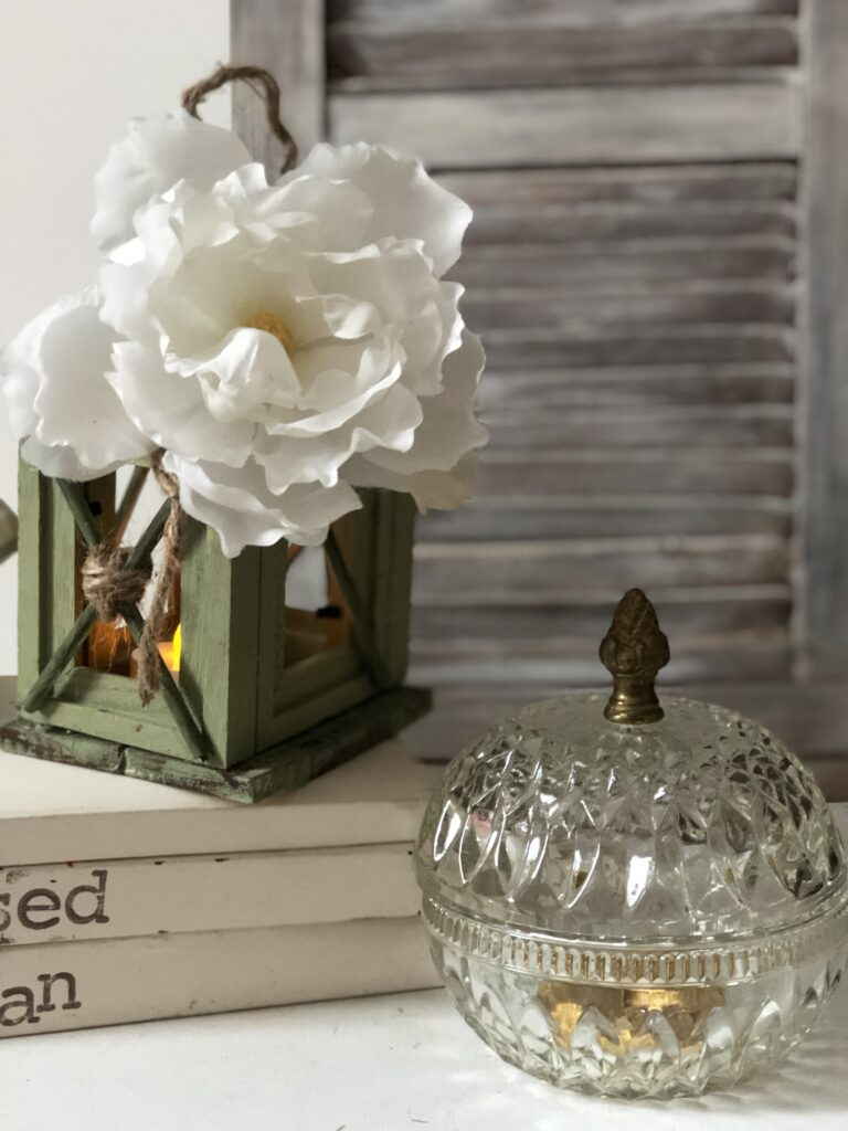 Beautiful Farmhouse style Vintage Stamped Stacked books. Re-purpuse you old books from home.Textured chalk paint DIY