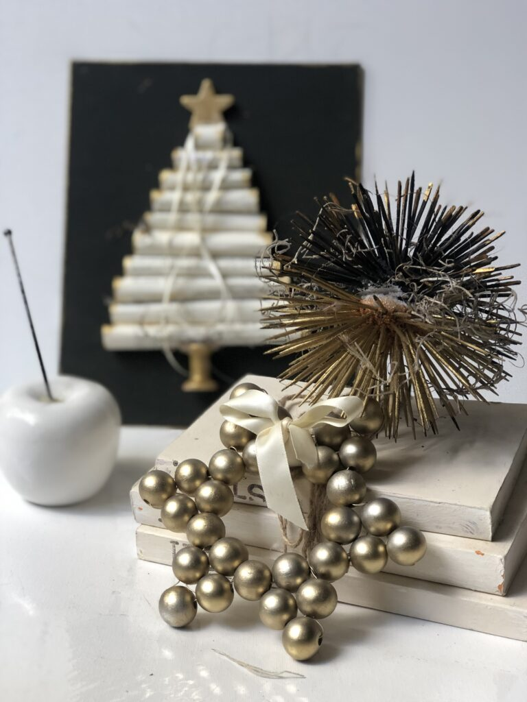 Wooden beads star ornament tutorial
