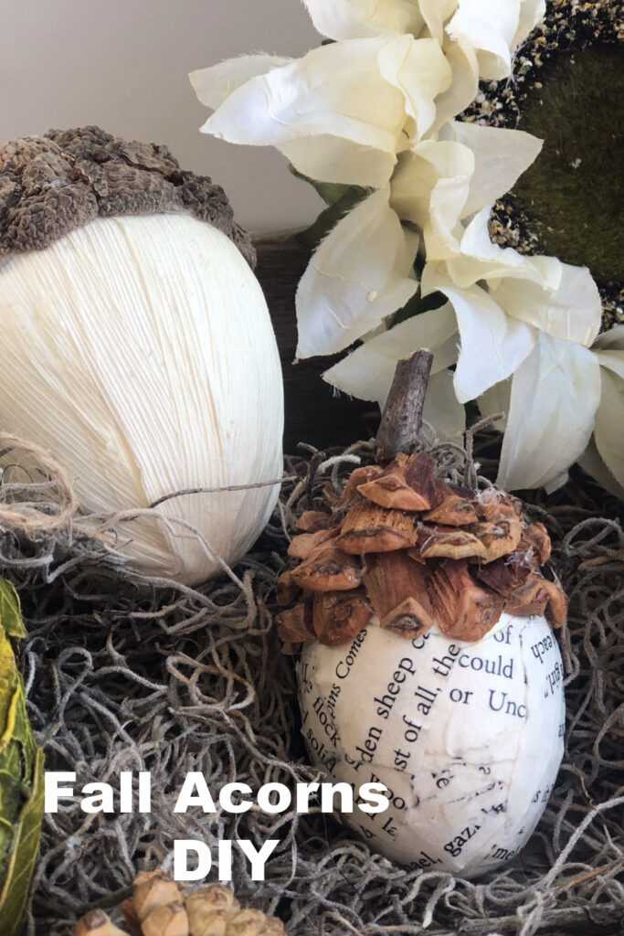 Easy super cute fall acorns diy to decorate your home this fall. Budget friendly easy fall decor. Pine cone craft