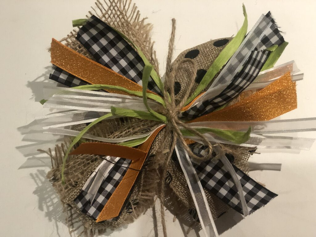 Learn how to make easy simple MESSY Bow. Use your scraps of ribbon to form this beauty! Easy elegant wreath bow