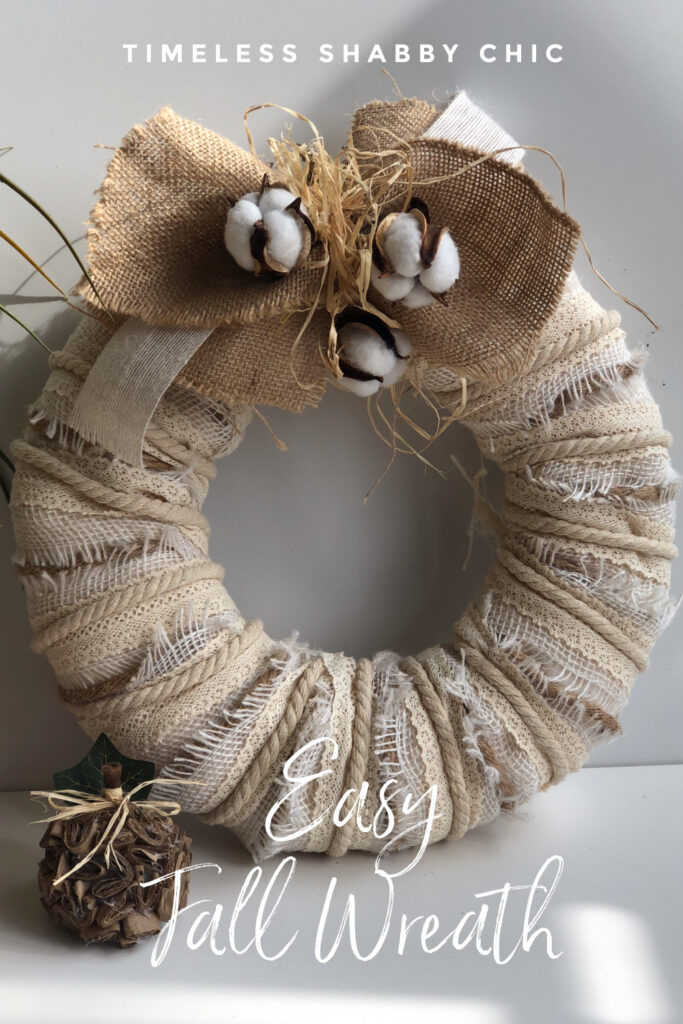 Learn how to make timeless Rustic Fall Christmas Wreath decor . Farmhouse Wreath. Layered lace wreath DIY. White Christmas wreath.