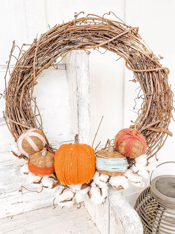 Elegant Fall Wreath diy
