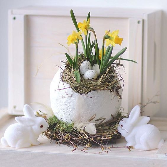 Paper Mache Easter Egg Diy Vintage Spring Easter egg DIY. How to make Paper mache egg . Budget friendly Easter diy. Stunning easy Easter craft.