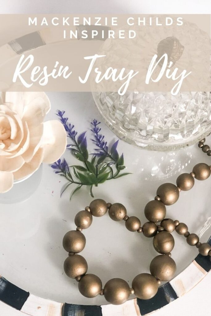 Learn how to transform pizza pan into one gorgeous piece of decor! MacKenzie Childs inspired resin pizza pan makeover into tray Learn how to pour resin, Budget friendly home decor diy