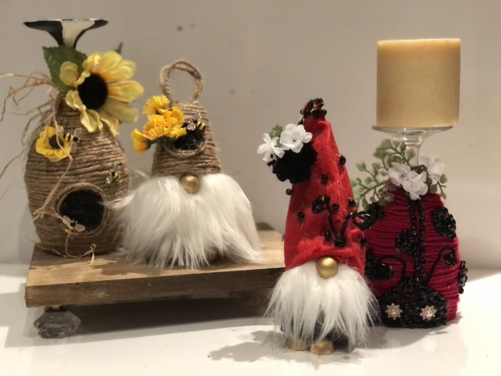 Learn how to make rope beehive. Budget friendly spring craft. Beehive diy. Easy twine craft. Cutest beehive rope craft.Beehive gnome and candle holder