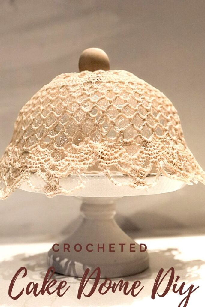 Make with me beautiful crocheted cake dome diy . Perfect full of character dome made out of crocheted doily. Easy to make detail for your house