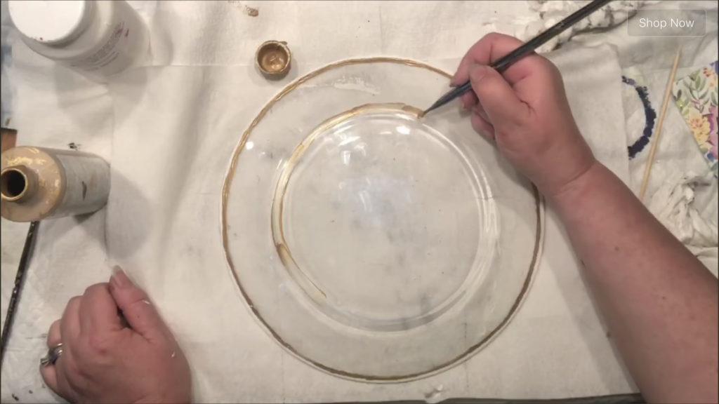 Let's give a glass plate from Dollar Tree upscale MacKenzie Childs inspired makeover. Glass napkin decoupage. Dollar Tree home decor diy. How to paint on the glass