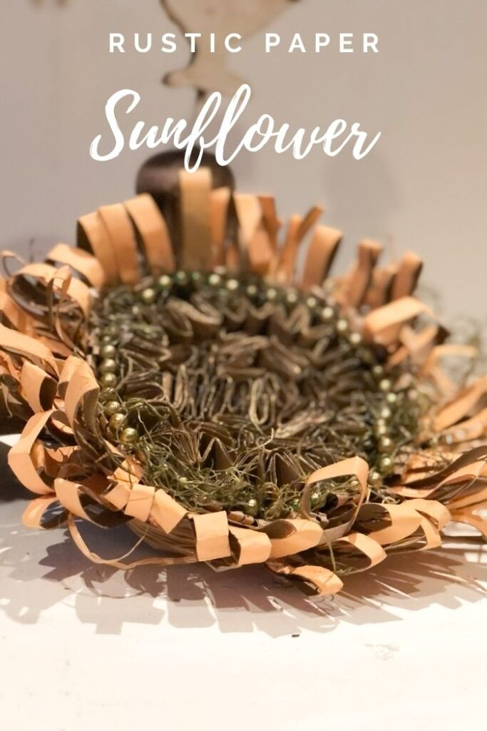 Learn how to make beautiful sunflower out of paper towel rolls flower . Budget friendly paper crafting. fall decor diy. Easy paper fall flower diy