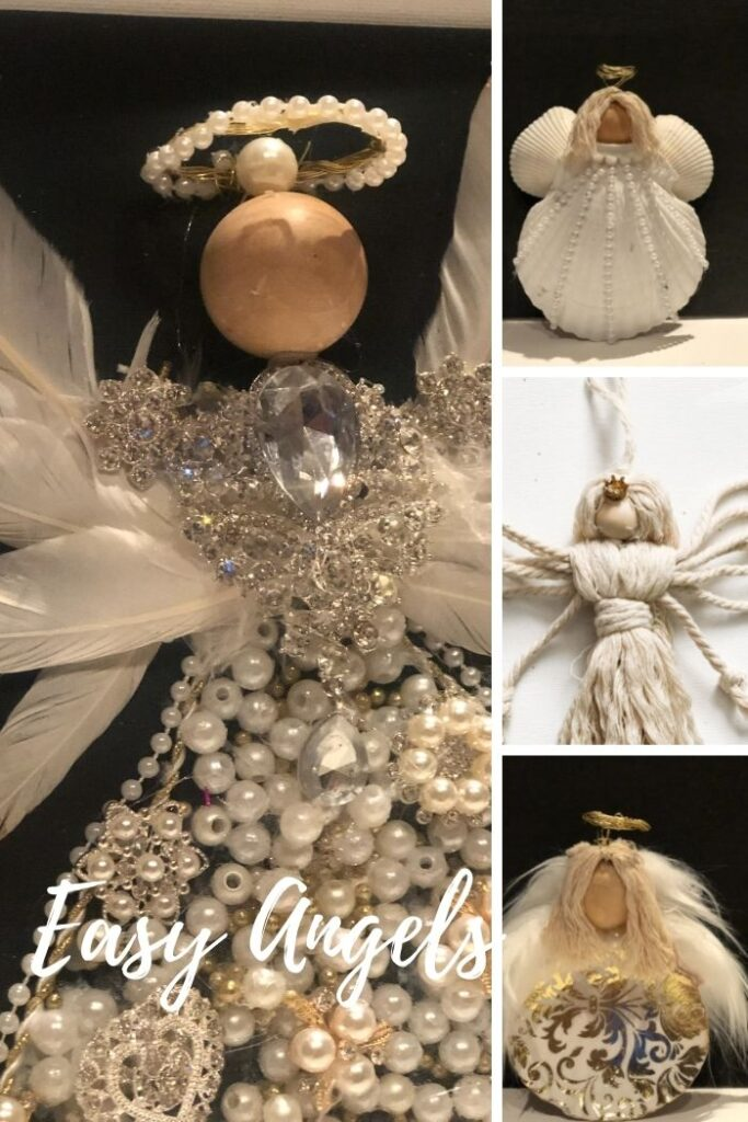We all need an angel or two in our life ..Learn how to make your perfect Angel out of different materials. Perfect gift idea . Christmas ornament