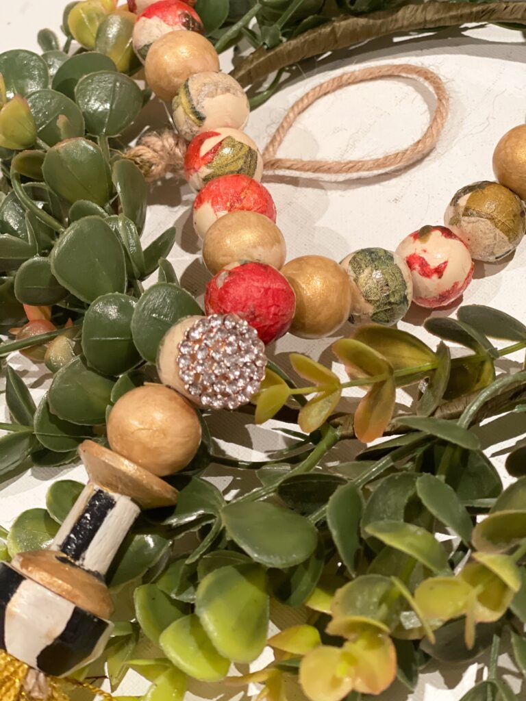 Learn how to decoupage round objects and Make stunning wooden beads tassel garland. Learn how to decoupage wooden beads