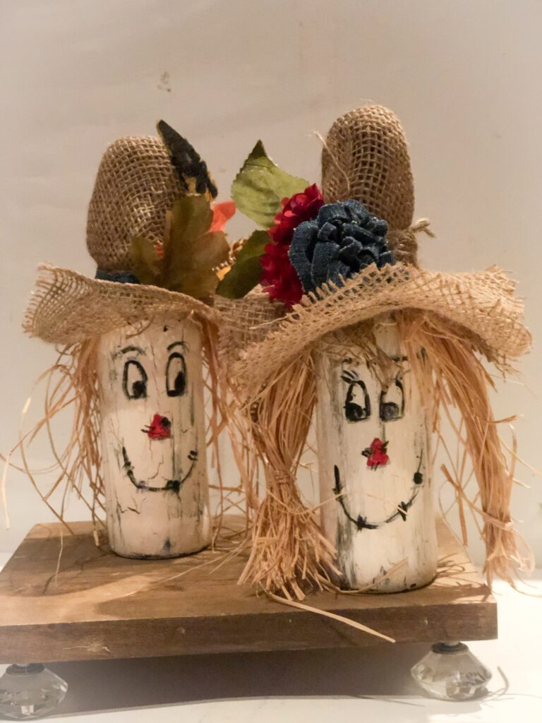 Easy Scarecrow diy. Rustic budget friendly bed springs fall craft.How to make a easy scarecrow. Fall decor idea