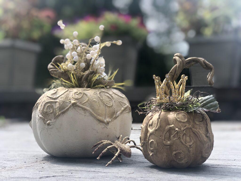 Elegant Chic Dollar Tree pumpkin craft diy . Budget friendly fall Decor Idea. Easy pumpkin fall decor idea. Enchanted chic fall diy