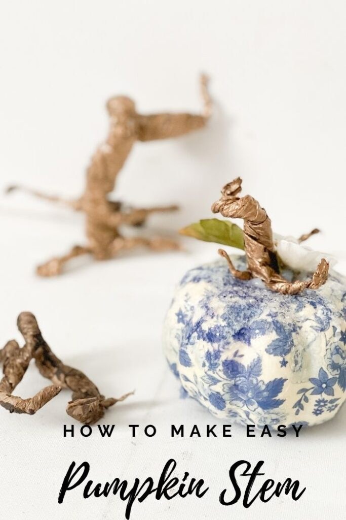 Learn how to make easy whimsical pumpkin stem in seconds. Decorate your pumpkins as no other. Paper fall pumpkin stem