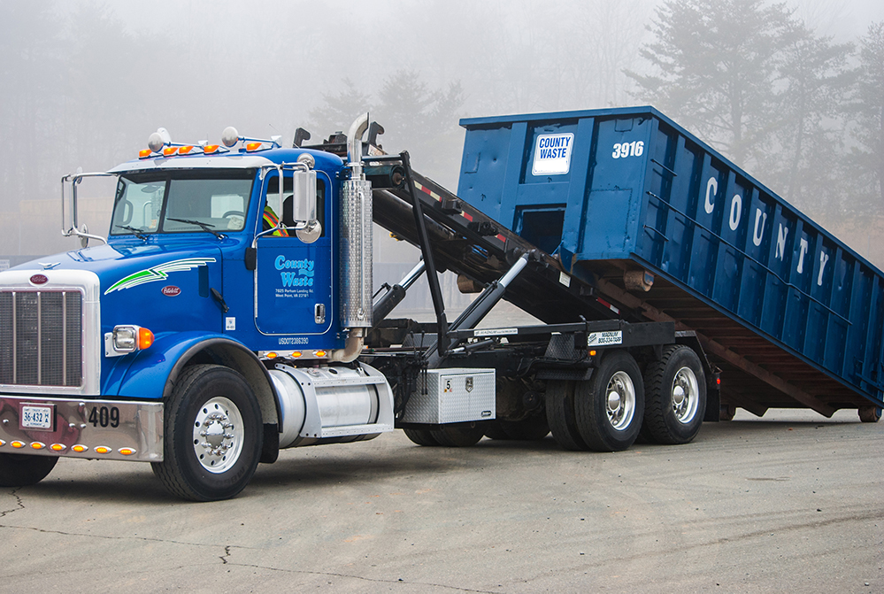County-Waste-Roll-Off-Truck