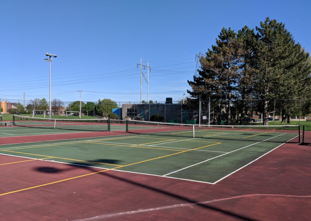 Newly painted courts at Trend Arlington Tennis Club