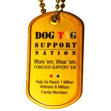 gold dog tag