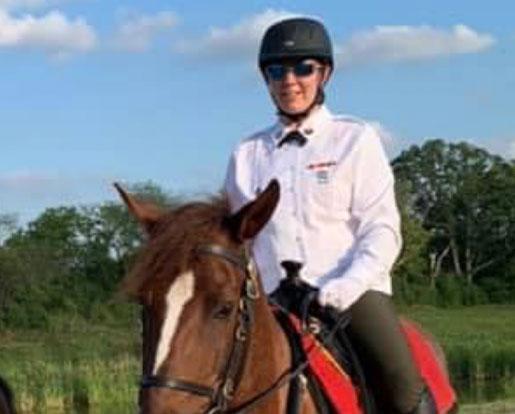 A veteran on a horse
