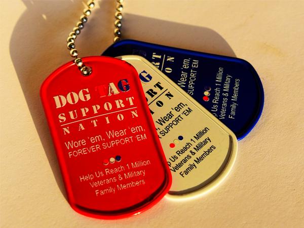 three dog tags