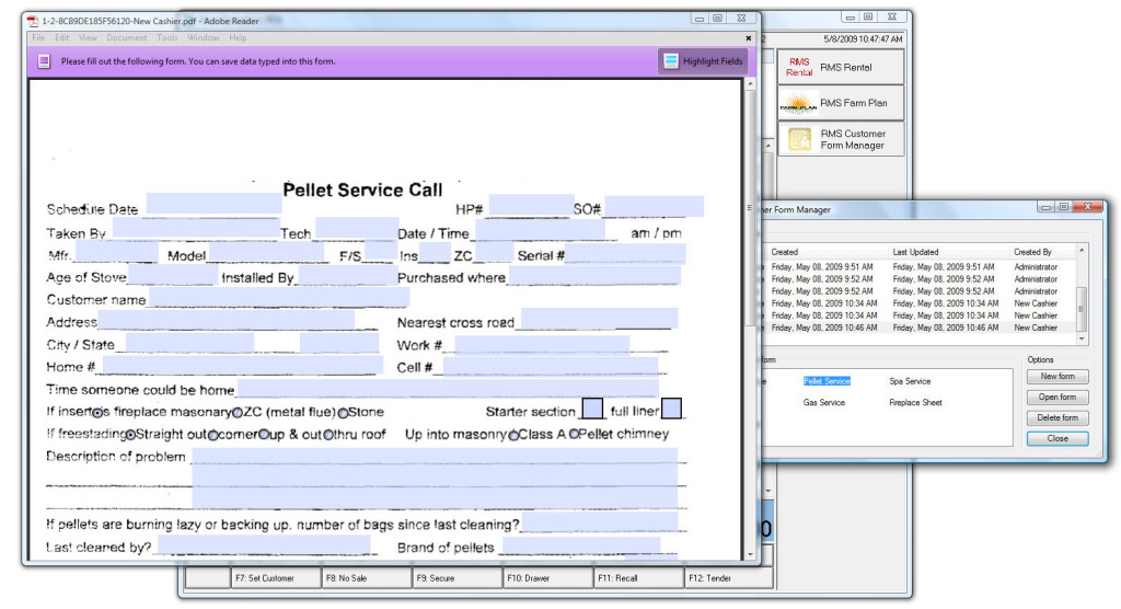 Example of Fillable Form in POS