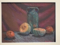 Green Vase with Fruit