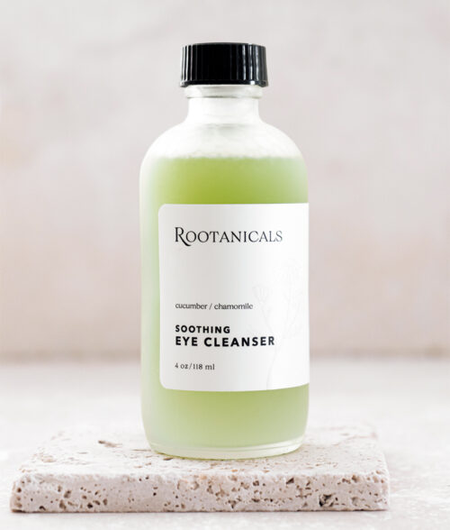 Rootanicals - Soothing organic eye make-up remover with Cucumber, Chamomile and aloe Vera - botanical, certified organic skincare
