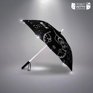 Robot Kitty LED-Lit Umbrella