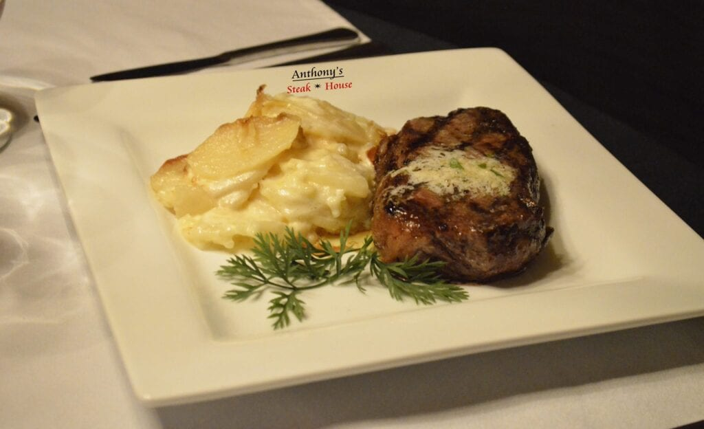 Filet Mignon with Au-Gratin
