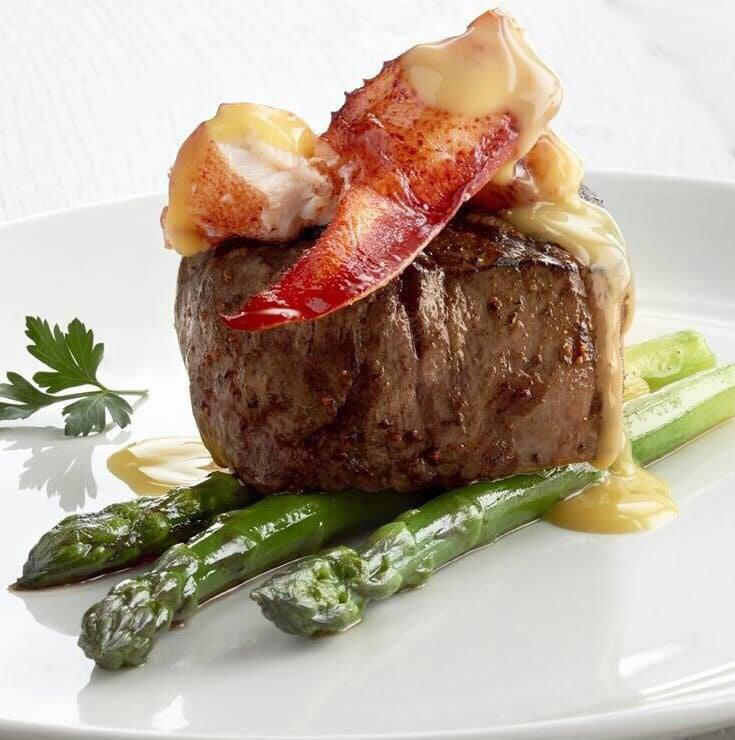 Filet Mignon Oscar with King Crab