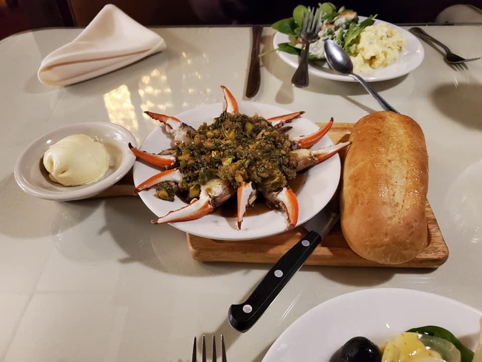 Marinated Crab Claws & Salad