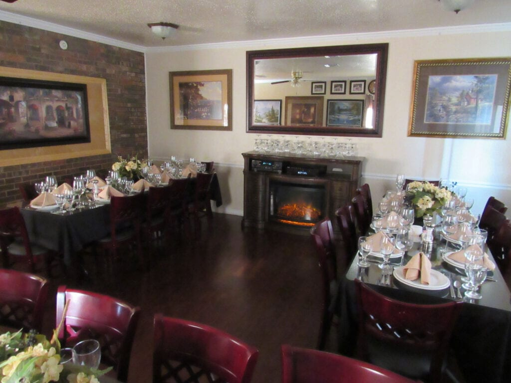 Private Dining with Fireplace