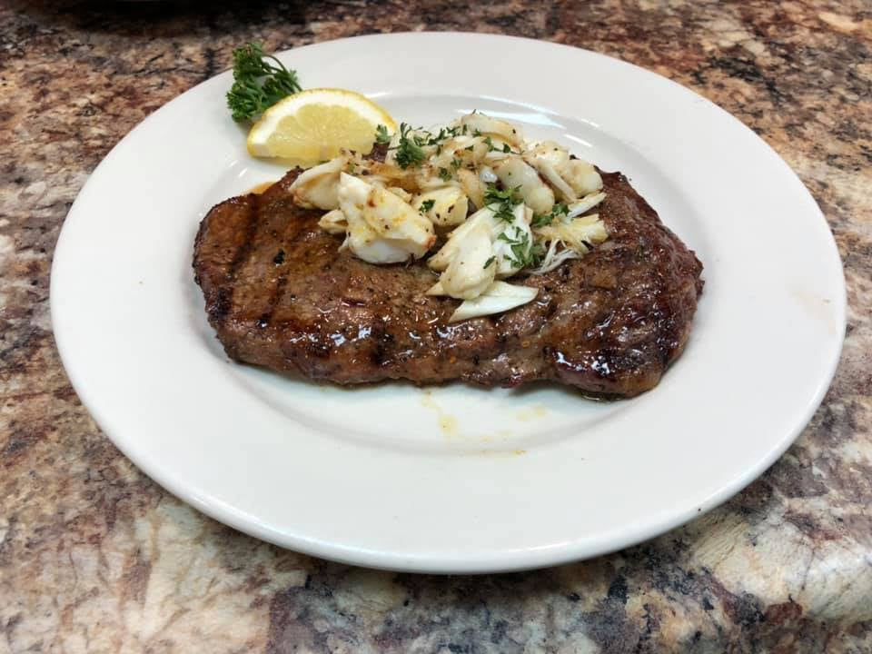 Ribeye with Colossal Lump Crabmeat_