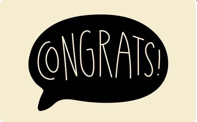 Congrats