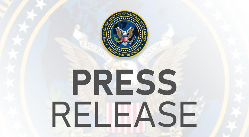ODNI Press Release