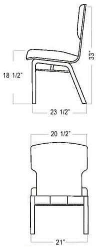Plybent 90 Chair Dimensions