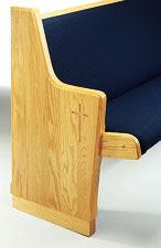 church-pew-end-no-150