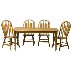 TEI Laminated Leg Table with 6 Side Chairs