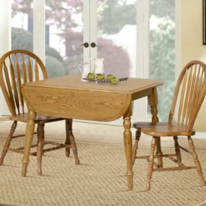 TEI Laminated Drop Leaf Table with 2 Side Chairs