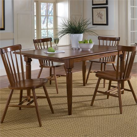 Liberty Creations II Butterfly Leaf Table with 4 Chairs