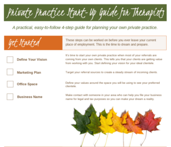 Private Therapy Practice Start Up Checklist - DoctorLavonne.com