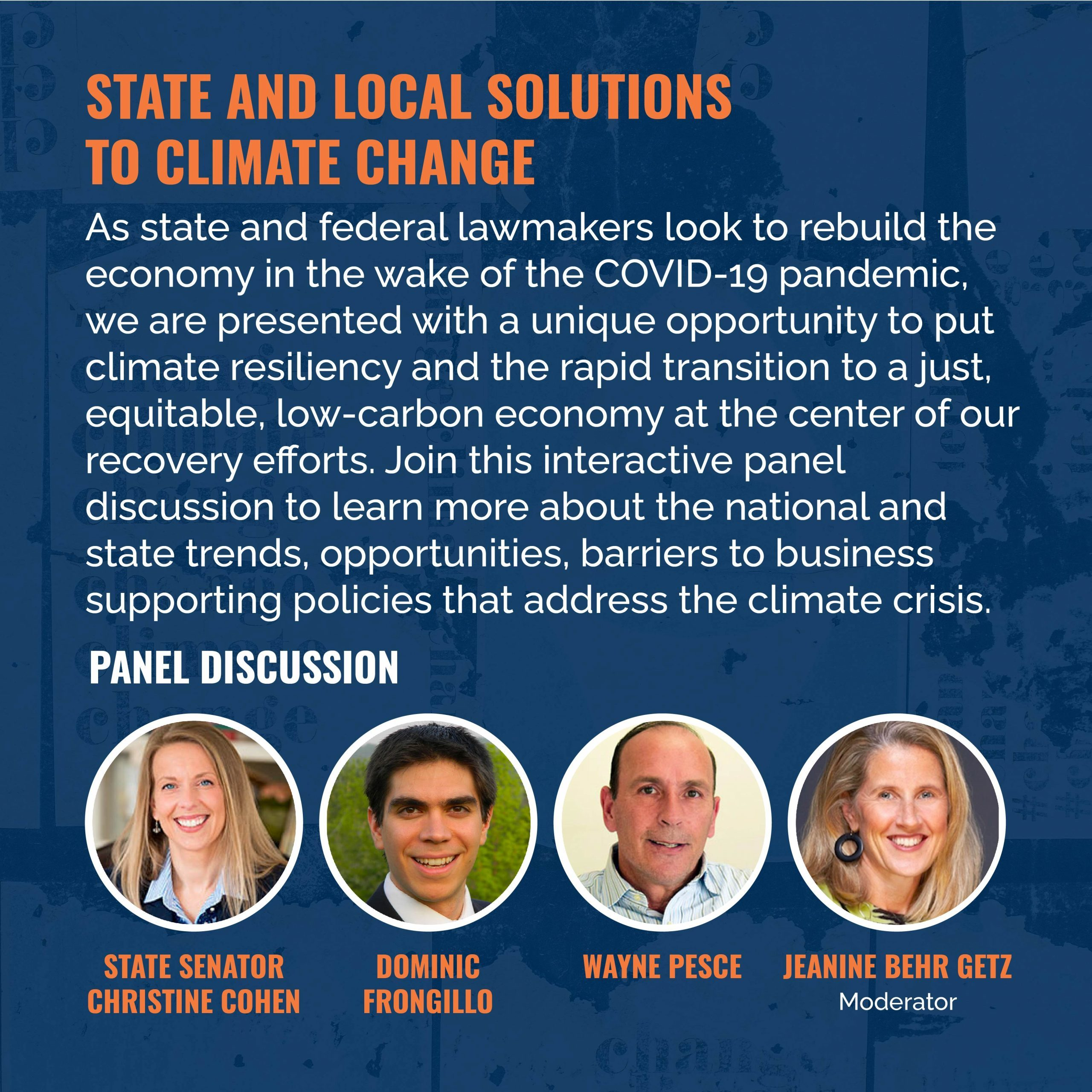 state and local solutions to climate change session