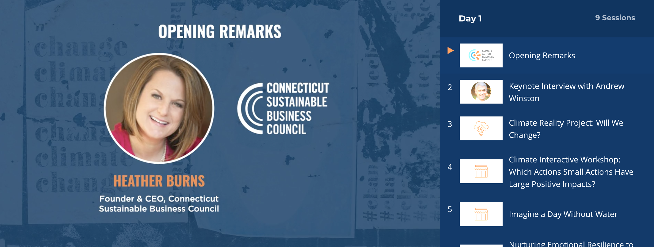ct climate action business summit content package preview