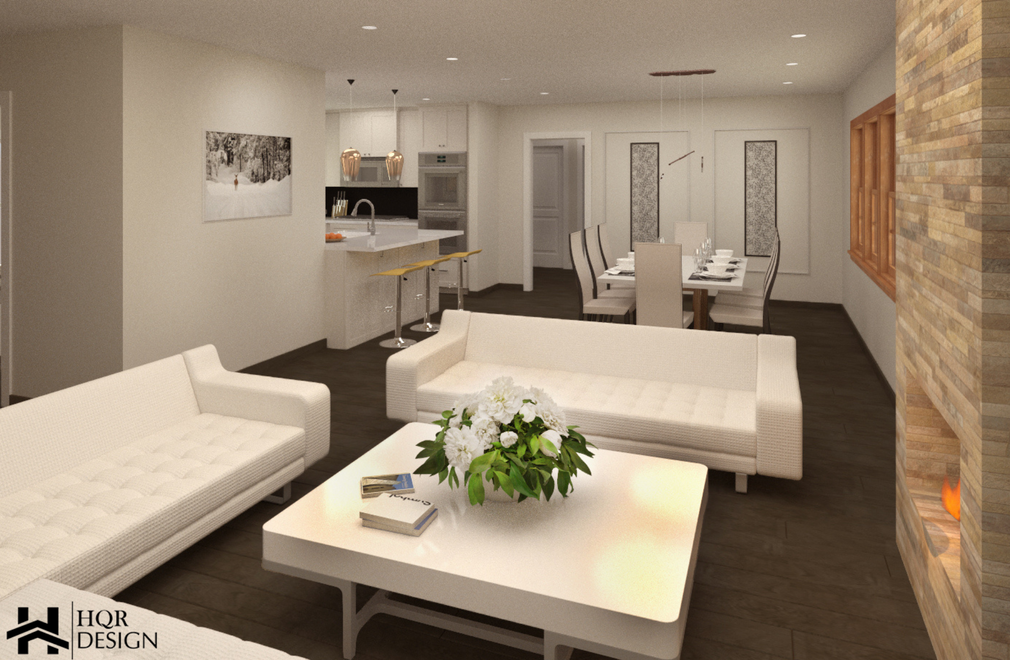 SF Open layout of kitchen and dining room (1)