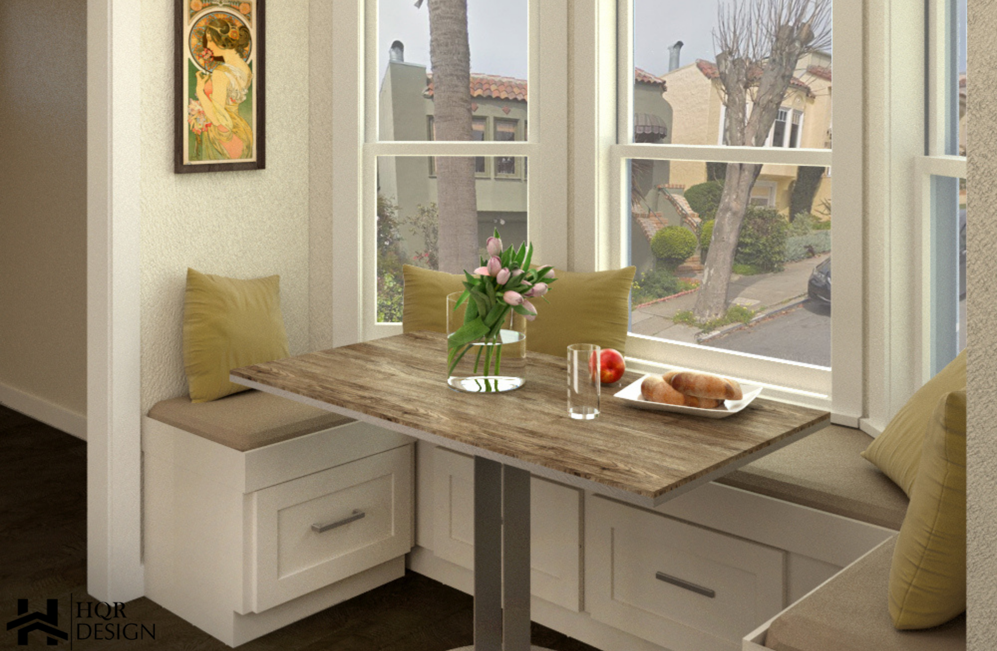SF Open layout of kitchen and dining room (2)