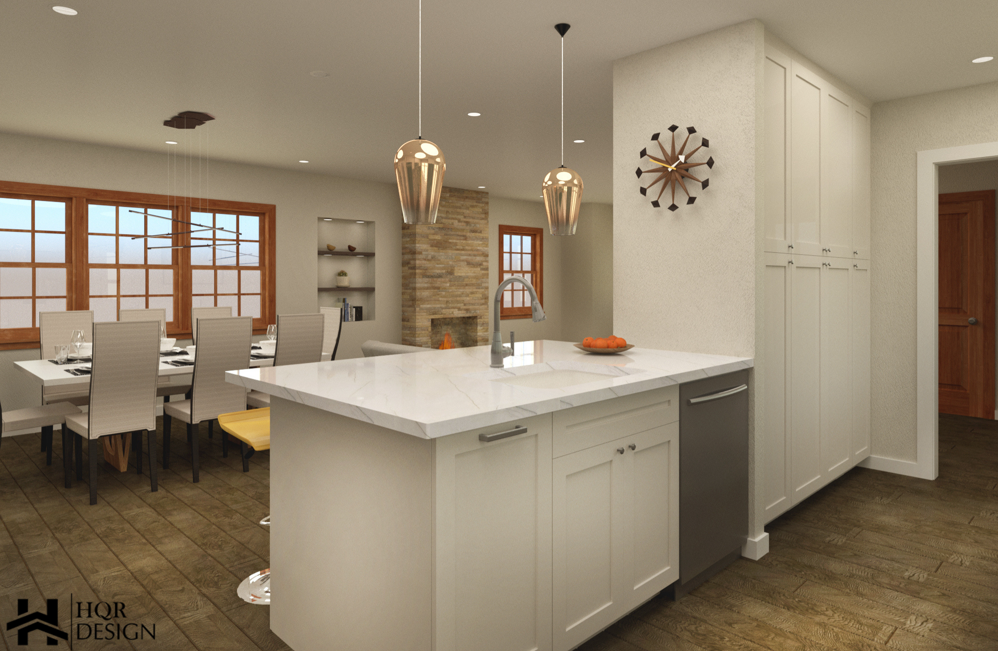 SF Open layout of kitchen and dining room (9)