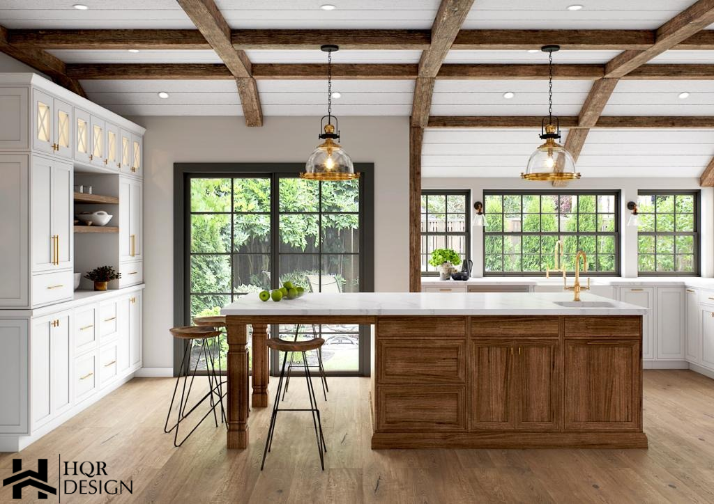 Alamo Rustic Kitchen and Living room (1)