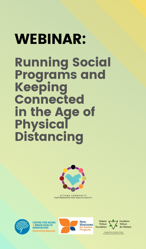 running social programs and keeping connected in the age of physical distancing