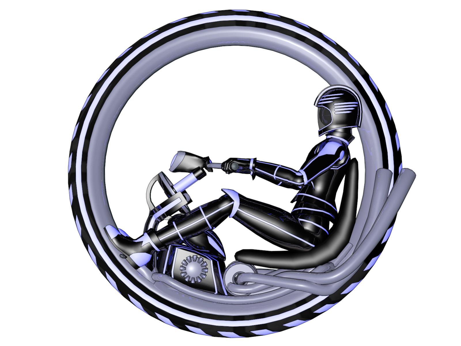Monowheel Cycle Side View