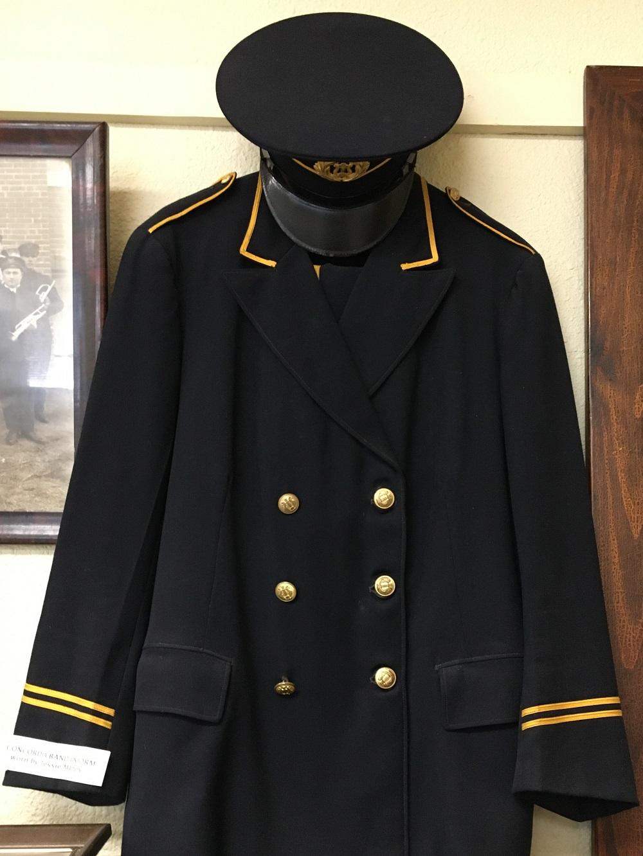 Tessie Marten's Concordia Municipal Band uniform