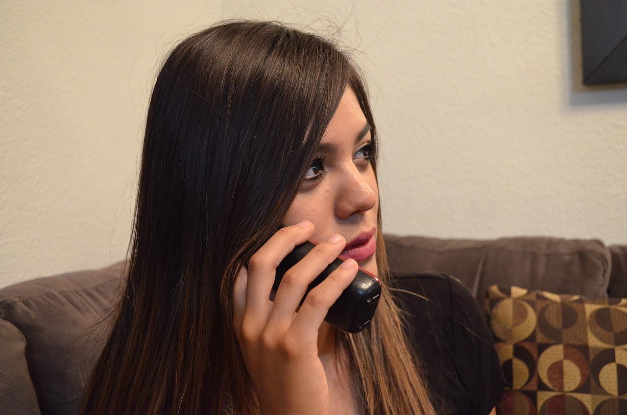 telephone, call, women