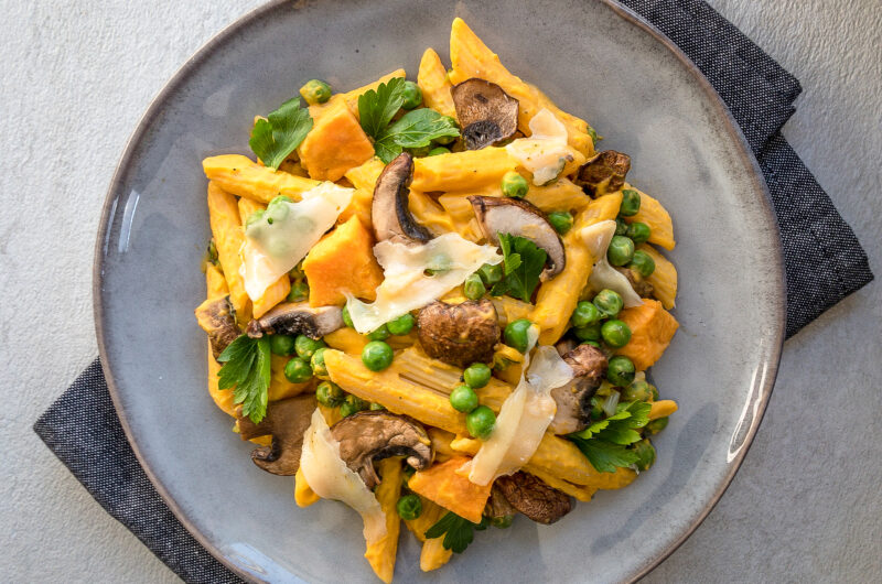 Sweet Potato Pasta with a Creamy Sweet Potato Sauce